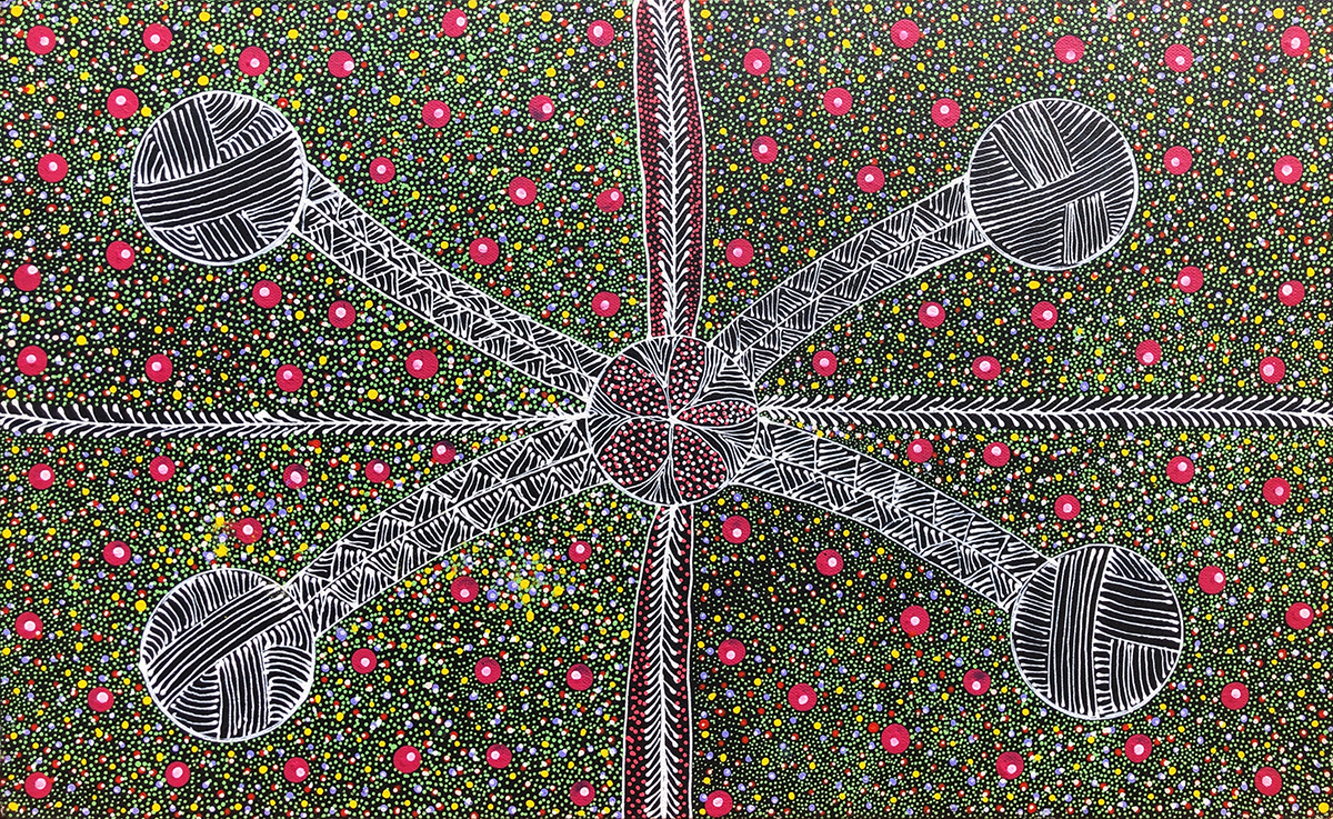 Anna Tilmouth Napangardi Bush Seeds painted 2015 Acrylic on linen Product4Life